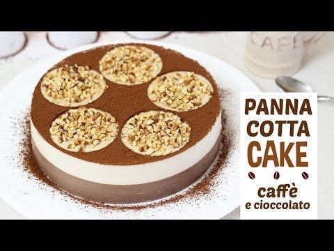 torta di panna cotta bigusto, caffè e cioccolato - ricetta