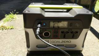 The plan is to find a solution on how to power a APAP/CPAP machine off a power pack over 5 days in the wilderness, charged by a solar panel. As theres many mixed information's out there  in terms of what works and what doesnt, I thought it would be wise to make this video of my Experience.Turns out the maximum power from the UK sun that this panel can generate is around 36W, not the 60W advertised.KINGSOLAR 60W Portable Sunpower Folding Solar Charger PanelGoal Zero Yeti 400 Universal Solar GeneratorResmed s10 autoset with climateair hose and HumidifierSee the other video about the resmed s10 machine with DC to DC adapter.... which comes with the right plugs to charge the Goal Zero Yeti!
