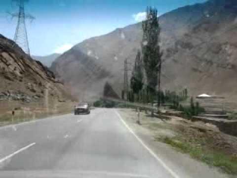 Tajikistan Fann Mountais 2012 - Iskanderkul to Dushanbe road 7 (видео)
