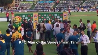 KFC Man of the Series Imran Tahir England South Africa T20 cricket 21 February 2016
