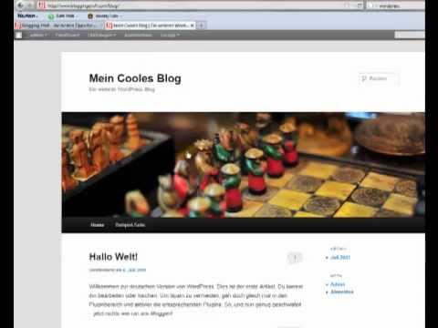 Wie installiert man WordPress, Schritt für Schritt Anleitung Deutsch Tutorial german