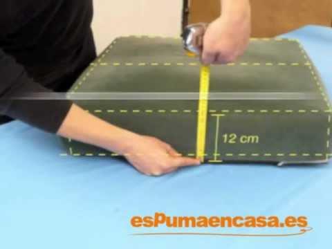Medidas cojines para muebles videos videos - Como hacer cojines para sillas ...