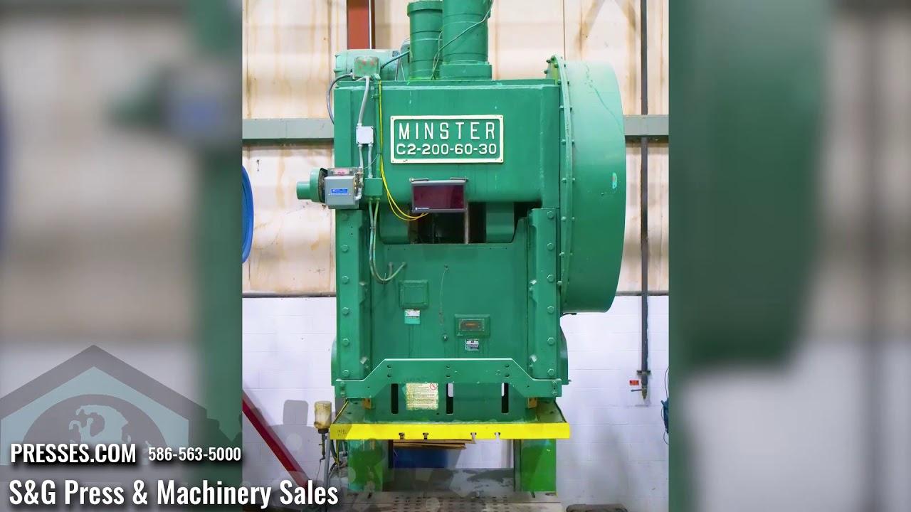 200 Ton Minster G2-200 Double Crank Gap Press