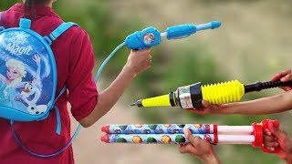 Holi Water Gun Collection & 111 Water Balloon Filler ,Colorful Capsule