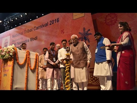 PM Modi inaugurates National Tribal Carnival - 2016 in New Delhi