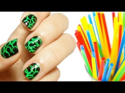 nail art con cannuccia!