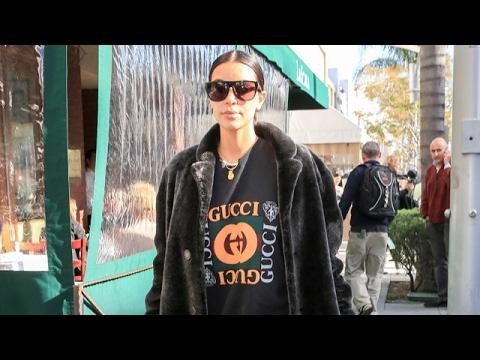 Kim Kardashian Gets Lunch At La Scala With Two Men