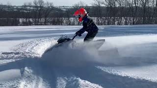 2. 2019 Yamaha Snoscoot ES Review | Review By A Young Snowmobile Rider