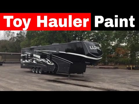 New Luxe Toy Hauler Paint - Black, Grey And White