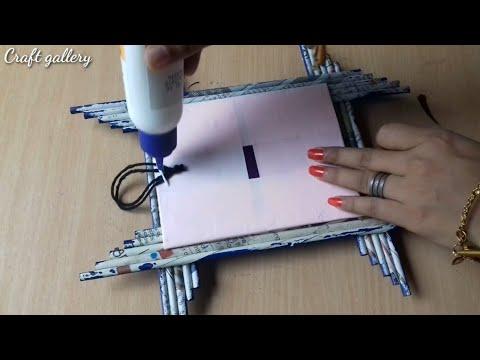 3 Easy Photo Frame Making Ideas | Newspaper Photo Frame | Handmade Photo Frame Ideas