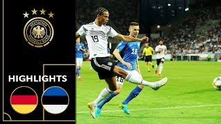 Rousing Offensive Festival | Germany - Estonia 8-0 |Highlights | Euro Qualifiers