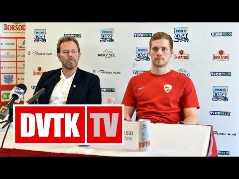 Sajótájékoztató a Magyar Kupa-döntő előtt | 2018. január 19. | DVTK TV