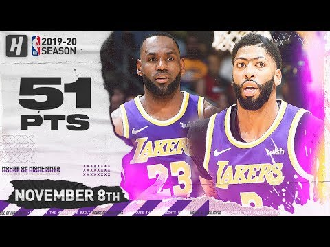 LeBron James & Anthony Davis CRAZY Full Highlights vs Heat (2019.11.08) - 51 Pts Combined!