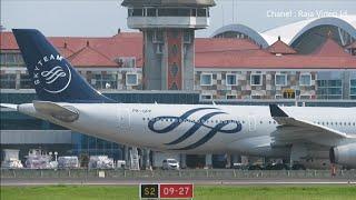 Video Kesibukan Lalu Lintas Pesawat di Bandara Ngurah Rai Bali, Landing dan Take Off MP3, 3GP, MP4, WEBM, AVI, FLV Oktober 2018