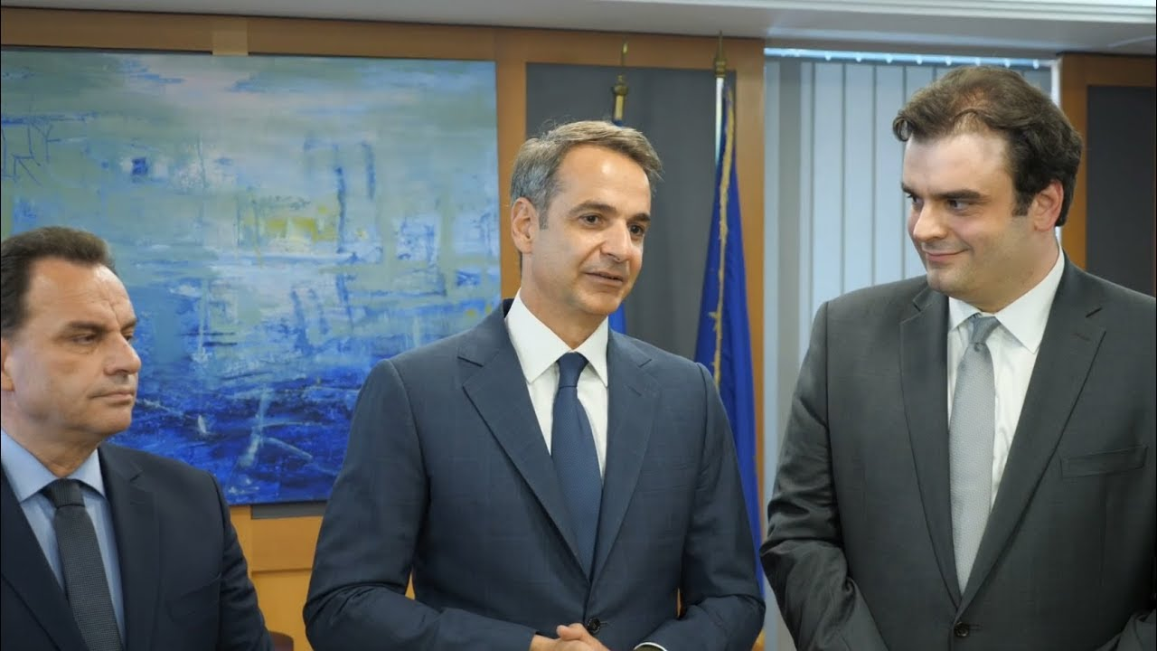 Επίσκεψη του Πρωθυπουργού Κυριάκου Μητσοτάκη στο Υπουργείο Ψηφιακής Διακυβέρνησης