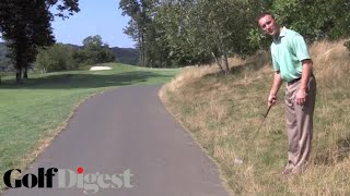Golf Digest rules editor Ron Kaspriske on the do's and don'ts of when you can drop off a cart path. Still haven't subscribed to Golf Digest on YouTube? ►► ht...