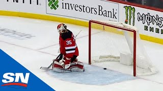Cory Schneider Lets Bad Shot Sneak Through To End His Night Against Golden Knights by Sportsnet Canada
