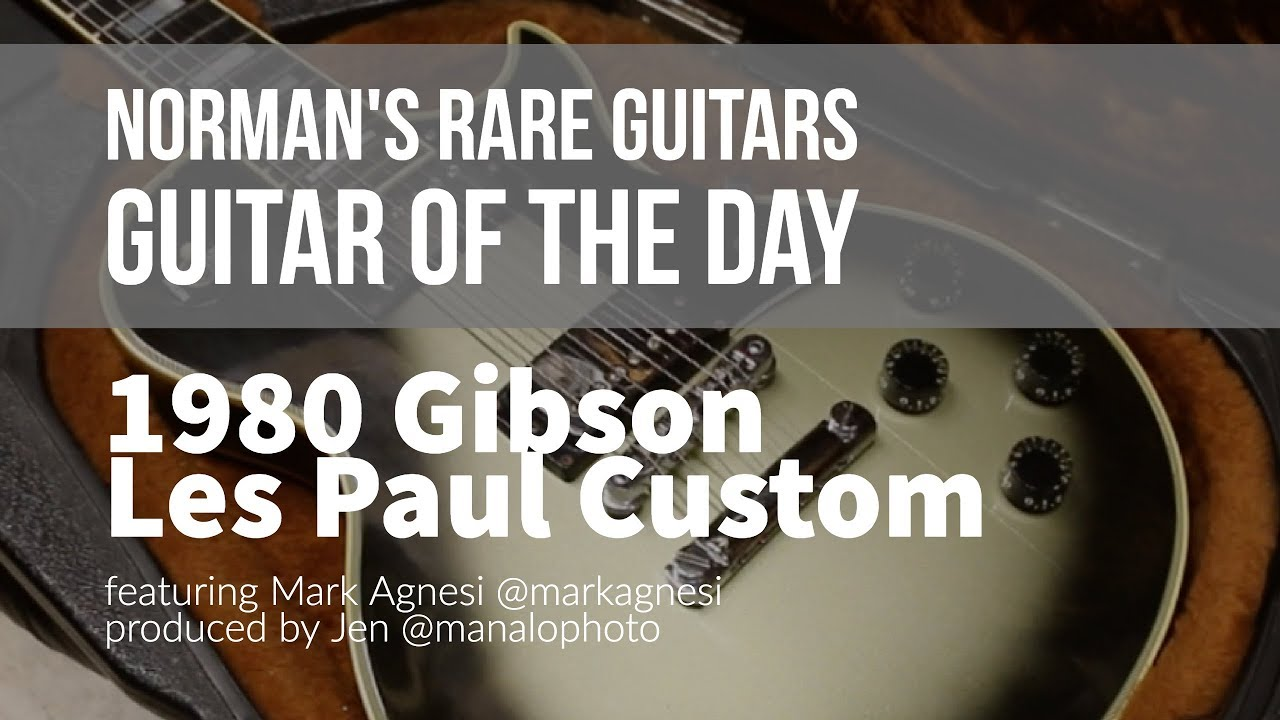 Norman's Rare Guitars – Guitar of the Day: 1980 Gibson Les Paul Custom