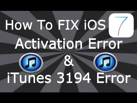 dinod7 - Please Read How to Fix iOS 7 Activation error. iOS 7.0.2 download link for all supported devices: http://www.felixbruns.de/iPod/firmware/ iTunes 3194 Error F...