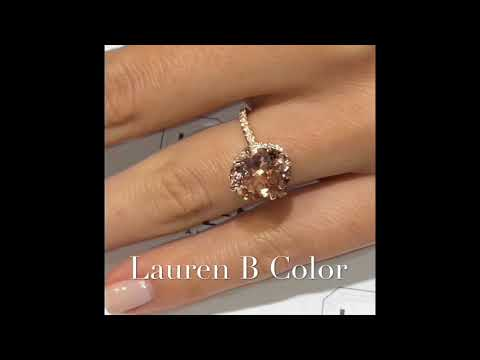 4.46 ct Oval Morganite Engagement Ring