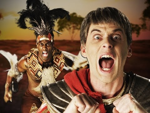 Shaka Zulu vs Julius Caesar.  Epic Rap Battles of History Season 4. (видео)