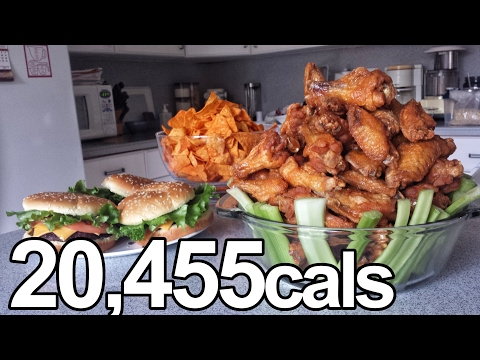 Download 20,000 Calorie Superbowl Challenge (Wings, Doritos, Pizza...) HD Mp4 3GP Video and MP3