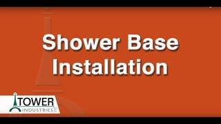 <h5>Shower Base Installation</h5>