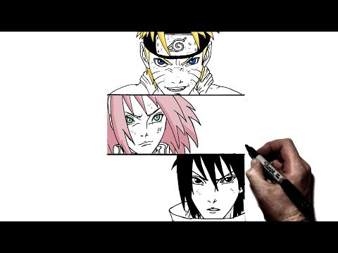 How To Draw Team 7    Step by Step   Naruto