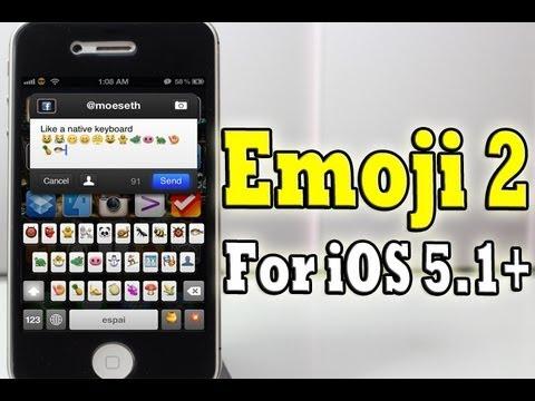 Unlock NEW Hidden iOS 5.1+ Emoji2 iPhone, iPod Touch iPad with 'Emoji2 for iOS 5.1+'