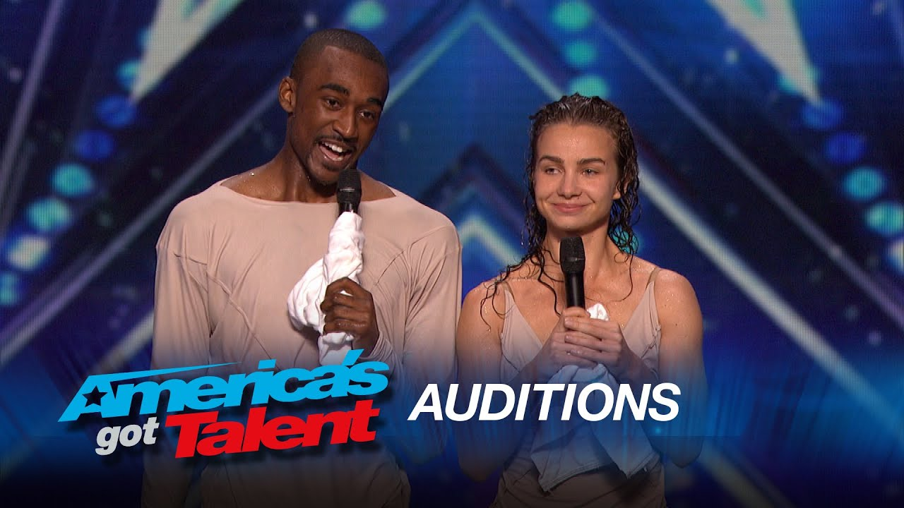 Freckled Sky: Howard Stern Hits Golden Buzzer for Dance Duo – America's Got Talent 2015