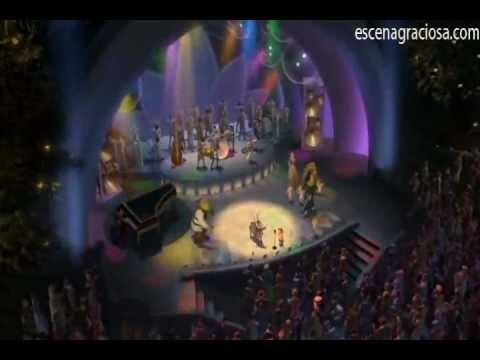 Escena Graciosa de ''Shrek 2''-Canción Final