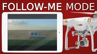 There is a lot to know about the Follow-Me function of the DJI Phantom 3 (http://goo.gl/EQh4PM) and DJI Phantom 4...