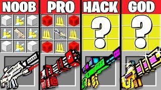 Video Minecraft Battle: SUPER GUN MOD CRAFTING CHALLENGE - NOOB vs PRO vs HACKER vs GOD ~ Animation MP3, 3GP, MP4, WEBM, AVI, FLV Mei 2019