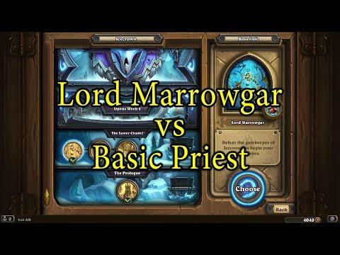 Hearthstone: Lord Marrowgar with a Basic Priest Deck