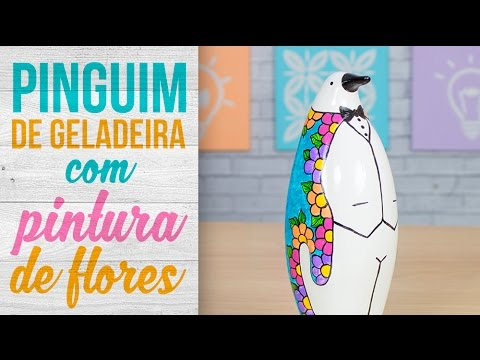 Pinguim de Geladeira Flores
