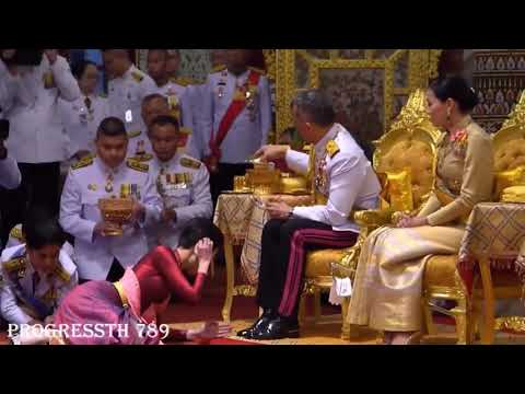 Thai king anoints his mistress as his official concubine: Army nurse becomes royal consort