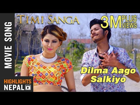 Video Dilma Aago Salkiyo - New Nepali Movie TIMI SANGA Song 2018 | Ft. Samragyee RL Shah, Najir Husen download in MP3, 3GP, MP4, WEBM, AVI, FLV January 2017