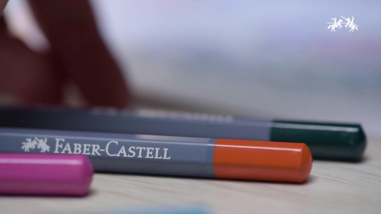 """Набор карандашей акварельных Faber-castell """"Goldfaber Aqua"""" 36 цв, в металлической коробке видео"""