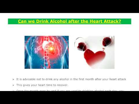 Can we Drink Alcohol after the Heart Attack