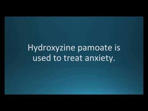 How to pronounce hydroxyzine pamoate (Vistaril) (Memorizing Pharmacology Flashcard)
