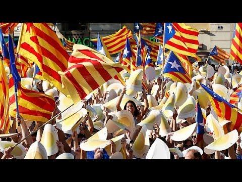 Ισπανία: Διαδήλωση υπέρ της ανεξαρτησίας στην Καταλονία