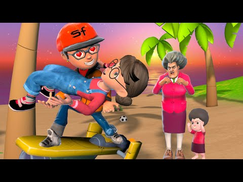 Scary Teacher 3D | Nick - the Tani's Hero - Story at the Beach | BuzzFamily Funny Animation