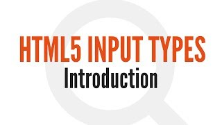 HTML5 Input Types: Introduction (1/14)