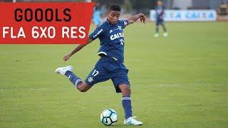 Rafael Vaz, Willian Arão, Gabriel, Ederson e Felipe Vizeu marcaram para o Mengão. O gol que fechou a goleada foi contra. --------------- Seja sócio-torcedor ...