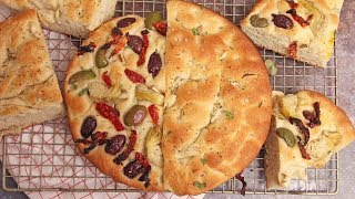 Pantry Focaccia by Laura in the Kitchen