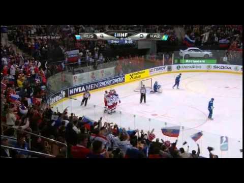 чемпионат мира по хоккею 2014 года,Россия-Казахстан (видео)