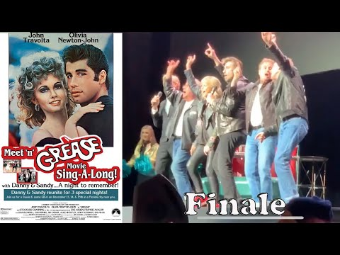 """Grease Sing-A-Long, Olivia Newton-John and John Travolta LIVE """"Greased Lightning""""/""""We Go Together"""""""
