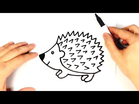 How to draw a Hedgehog for kids | Hedgehog Drawing Lesson