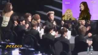 140212 EXO REACTION TO SNSD-I Got a boy 3rd Gaon Chart Award