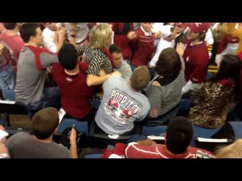 Crazy Lady (Bama Fan) Superman Fights OU Student.